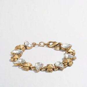 JCrew Crystal Raindrop Bracelet